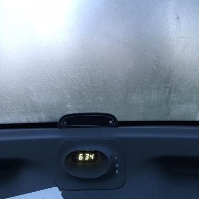 Al vroeg in de auto en ik moet krabben....