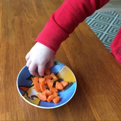 Nog even wat worteltjes snoepen. Of toch niet?